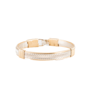 STERLING SILVER AND 14K GOLD FILLED BANGLE BRACELET #3