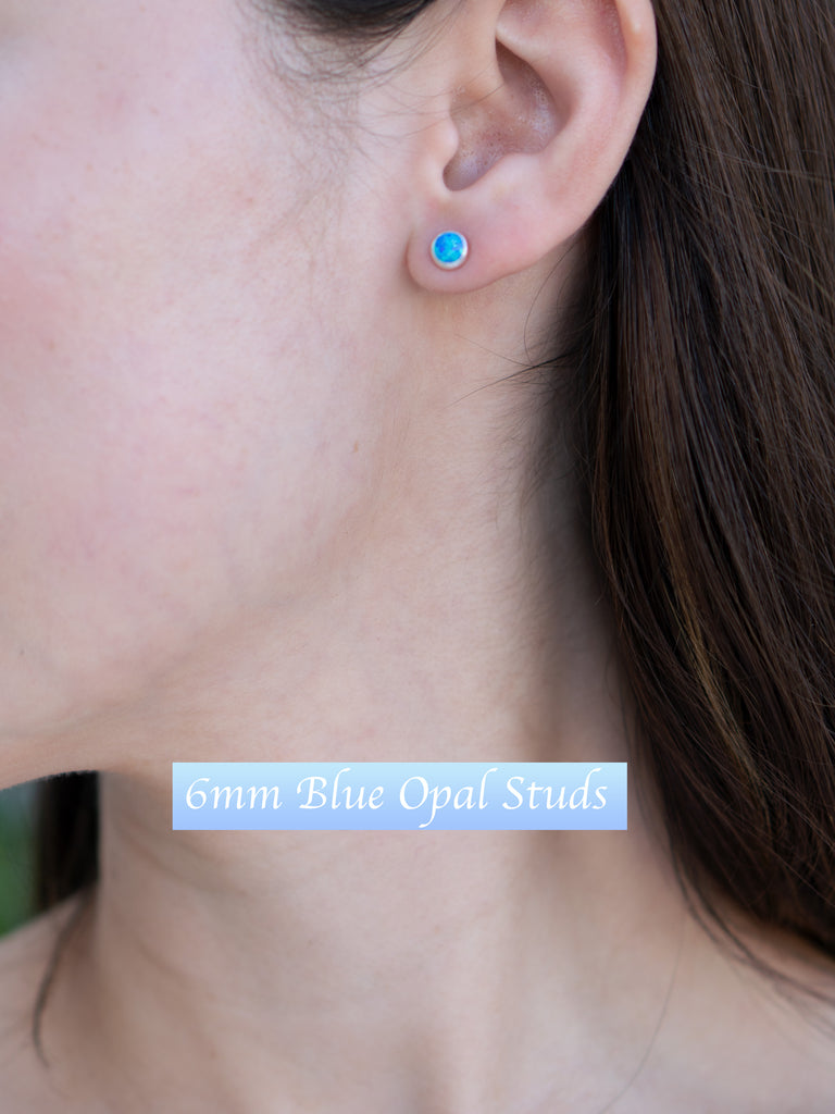 43-5S- Hypo Allergenic Opal Stud Earrings