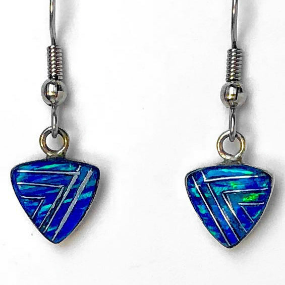 614ER - CARIBBEAN BLUE OPAL EARRINGS