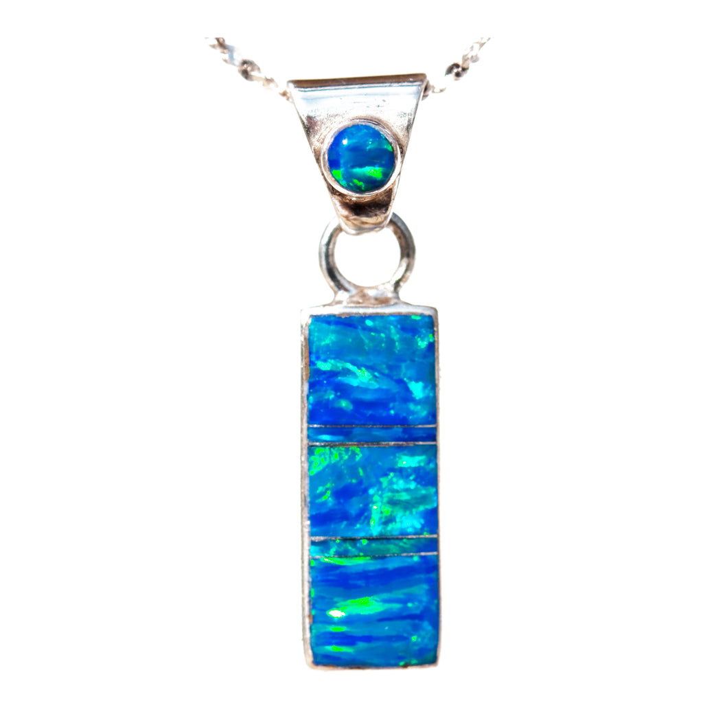 BLUE OPAL PENDANT (Choose Small or Large)