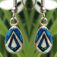 760/761ERbop - BLUE OPAL EARRINGS