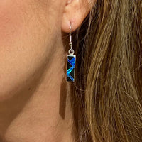 766ER - BLUE OPAL EARRINGS