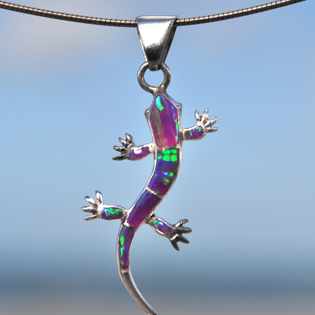 8PDsm - OPAL GECKO PENDANTS (CHOOSE YOUR COLOR)