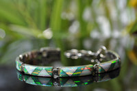BR61 GREEN AND WHITE FIRE OPAL BRACELET