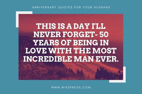 50th Wedding Anniversary Wishes for Your Husband to write in card