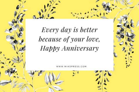 Sweet Happy Anniversary Quotes for Husband to write in card