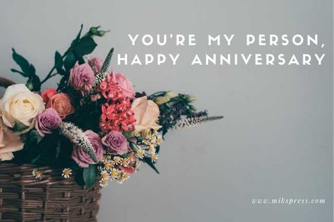 Romantic and Short Anniversary Wishes for Husband To Send With Flowers to write in card