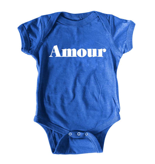 cute toddler graphic tee in blue for girl