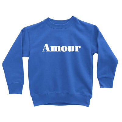 Blue Amour hipster graphic sweatshirt for kids