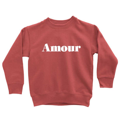 Red Amour Love Sweatshirt for toddler girls