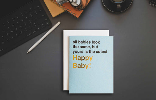 Baby boy card ideas for new baby that is minimal in design