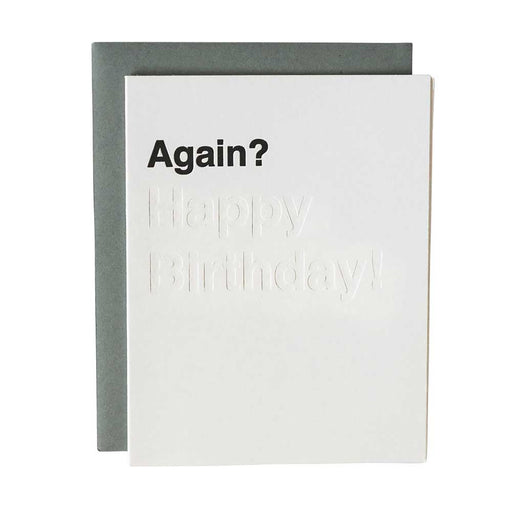 Letterpress funny dad birthday card with sarcasm with blind impression
