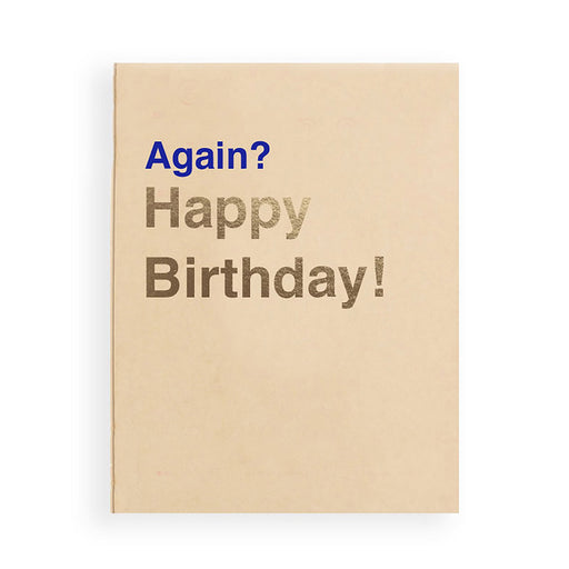 Funny happy birthday card for turning 30 years old with letterpress and gold foil