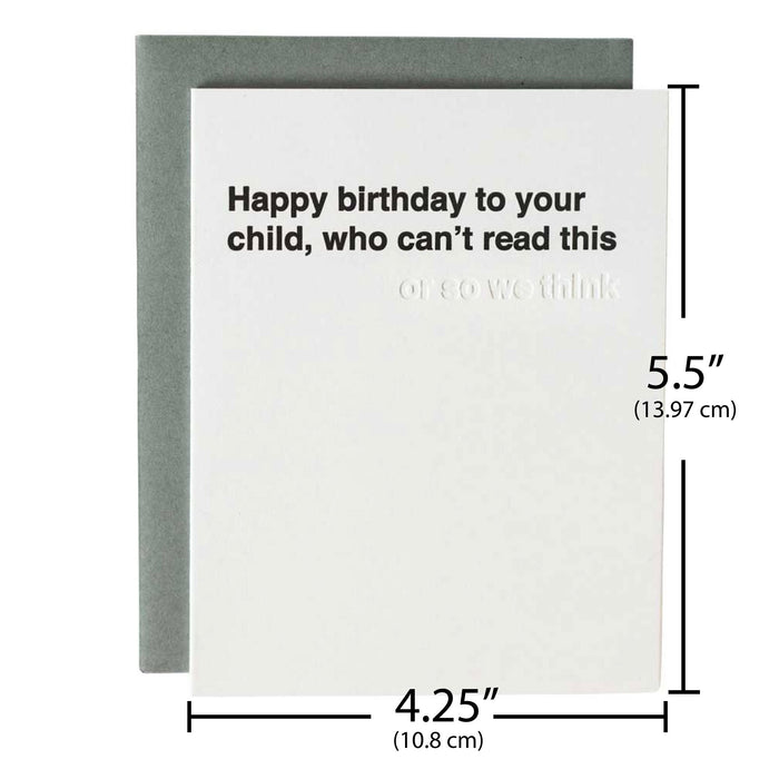 funny first birthday card