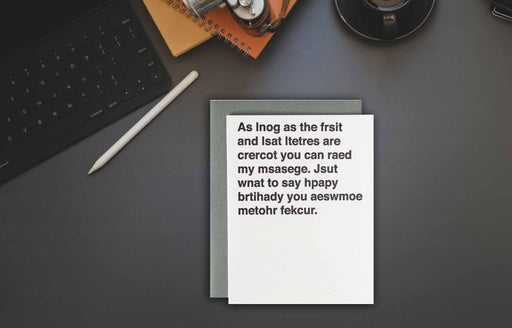 Curse Word Birthday card for boyfriend