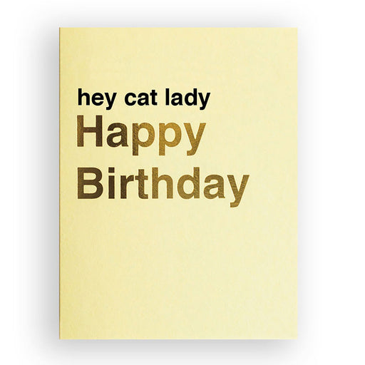 cat person birthday card