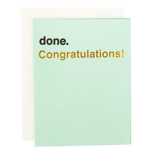 congratulatiosn card award