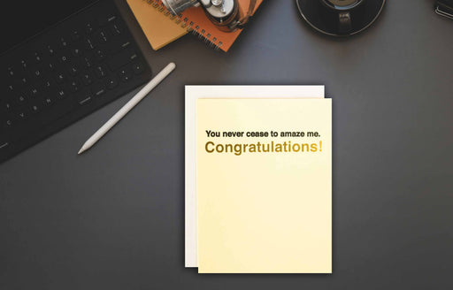 congrats on new job funny greeting card