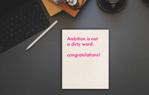 Funny Congratulation card for ambitious girls