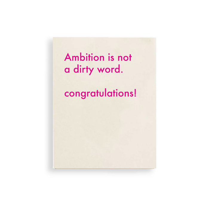 Congrats Card for New Job for amitious women who is a boss mom