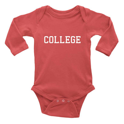 College humor baby onesie red long sleeve