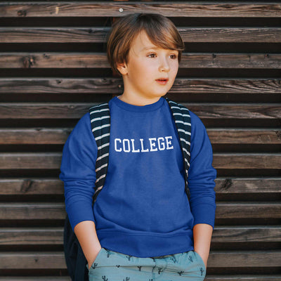 kid wearing college animal house john belushi sweatshirt