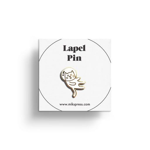 Cat Lover Pin in packaging