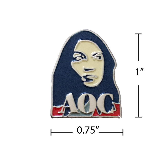 Alexandria Ocasio-Cortez pin measurement