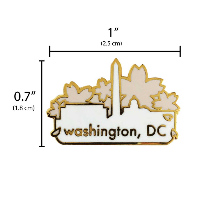 Washingtin DC Cherry Blossom pin measurement