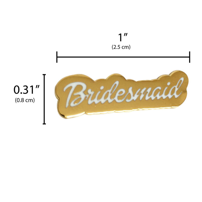 Bridesmaid Gift pin measurement