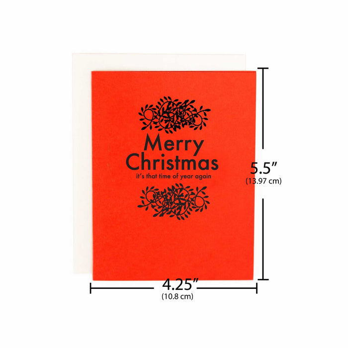 fun christmas cards minimal