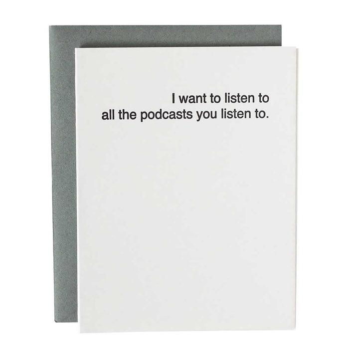 Love Cards for Him, I want to listen to all the podcasts... Love You