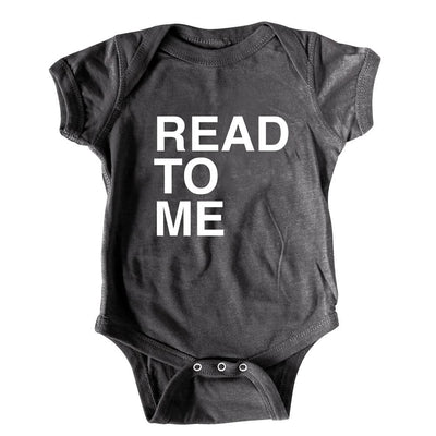 Read to me funny graphic baby onesie