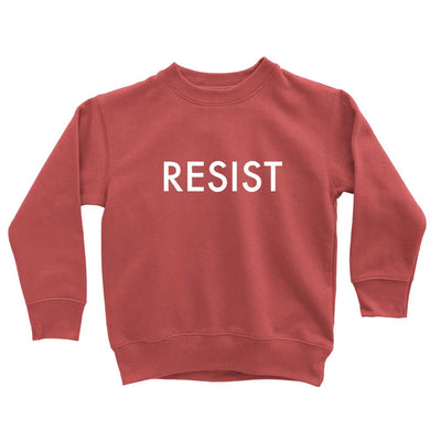 Funny Resist toddler sweatshirt in red
