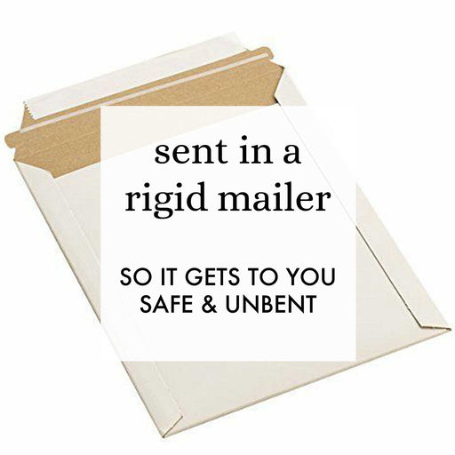 greeting card shipping method so it wont bend in transit and avoid damage