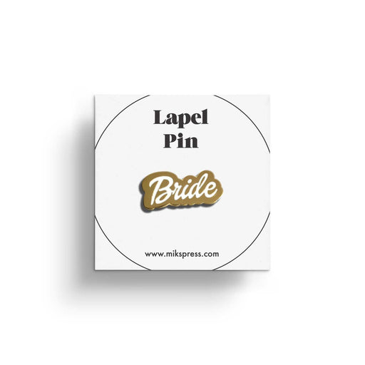 Bridal Party Pin in packaging