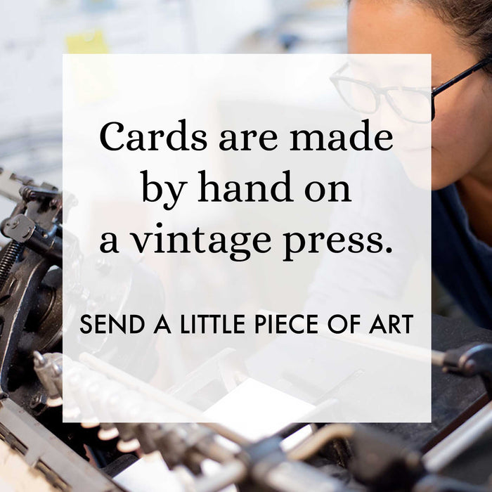 Mikspress handmade greeting cards made in the USA letterpress based in New York