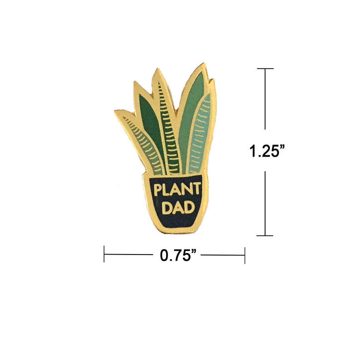 Plant Lover Pin for Men measurement