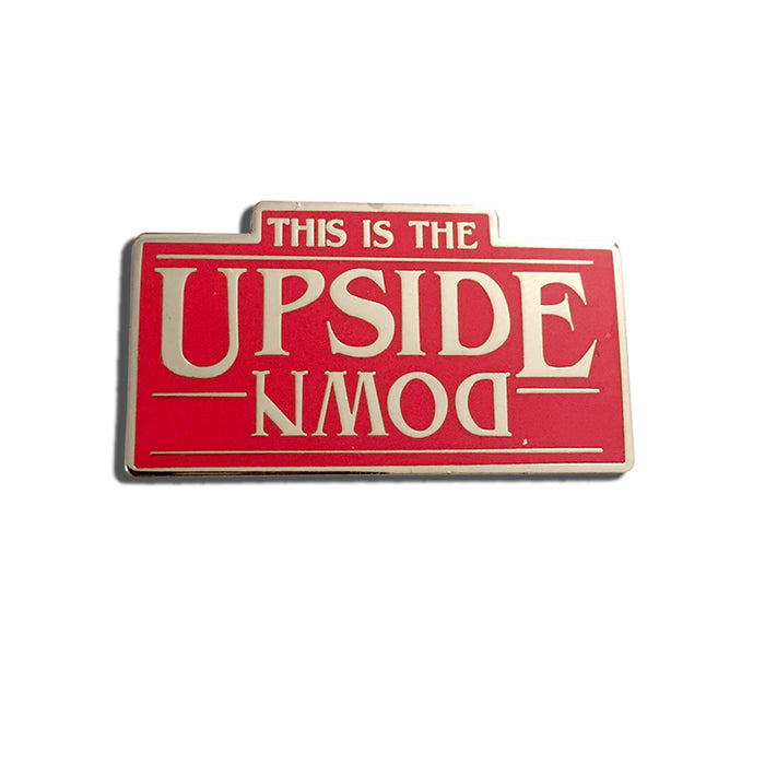 Stranger Things Pin The Upside Down white background