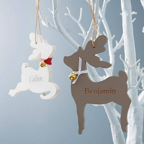 Personalised Engraved Reindeer Decoration