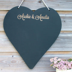 Personalised Engraved Heart Chalkboards