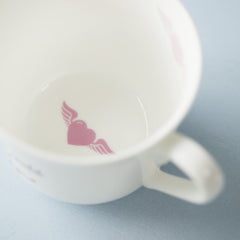 Favourite Quote Personalised Bone China Breakfast Cups