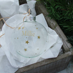 Personalised Starry Christmas Bauble