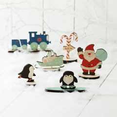 North Pole Characters Christmas Scene