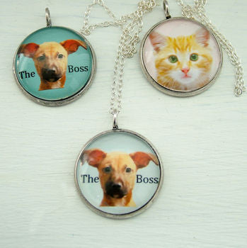 Personalised Pet Portait Pendant