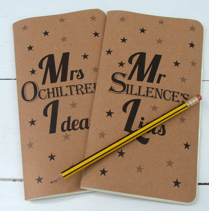 Personalised Message Retro Notebook