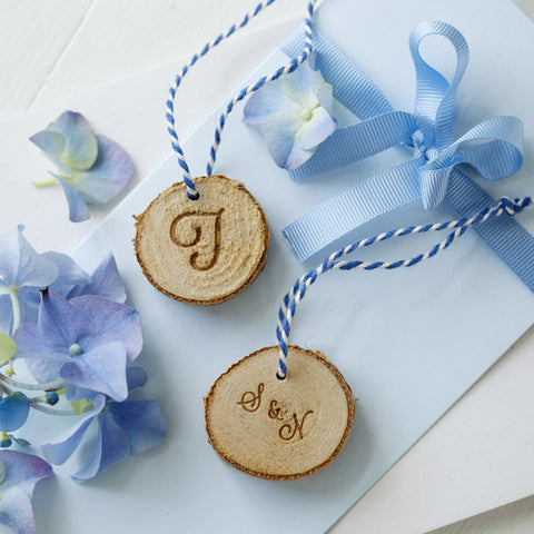 Engraved Birch Wood Gift Tag