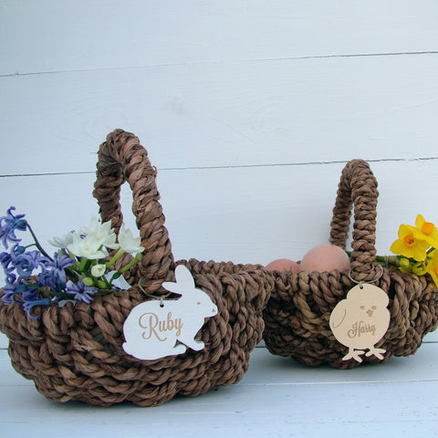Personalised Easter Egg Hunt Basket