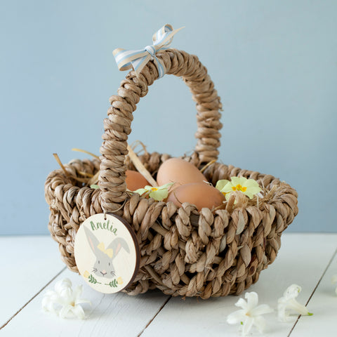 Personalised Bunny Easter Egg Hunt Basket