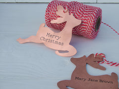Copper Personalised Christmas Woodland Animals